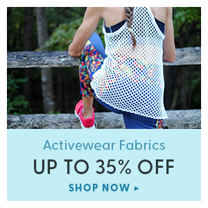 Up to 35% off activewear fabrics