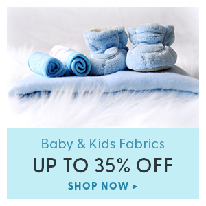 up to 35% off baby & kids fabrics