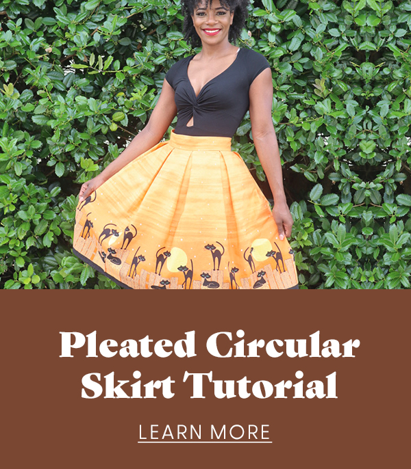 Pleated circular skirt tutorial - learn more