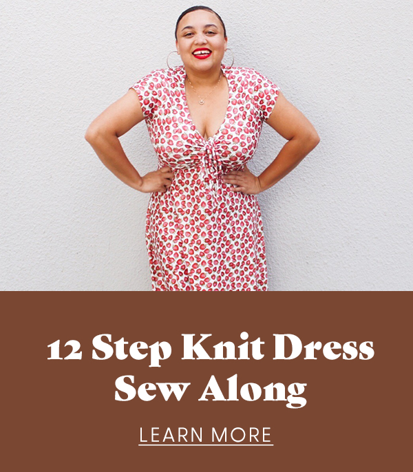 12 Step Knit Dress Sew Along