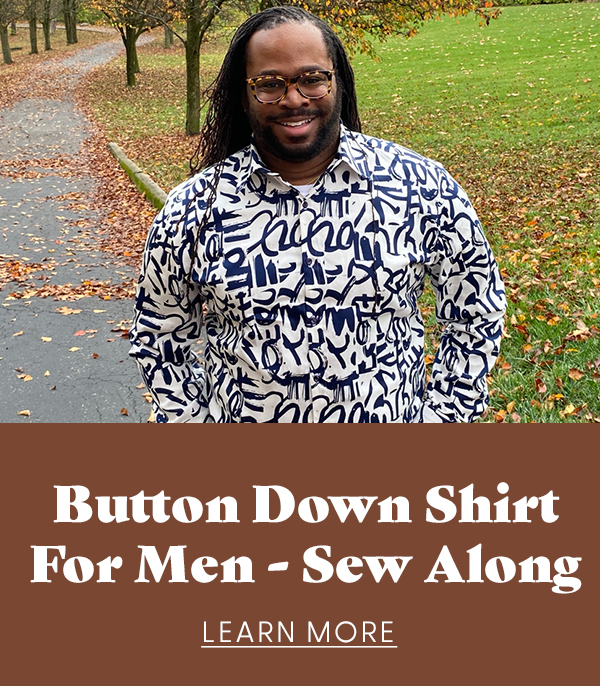 Button Down Shirt for Men Sew Along