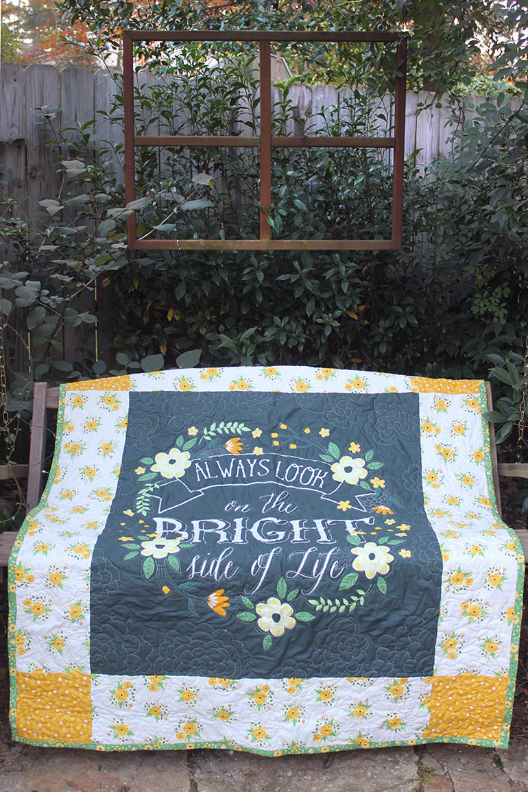 Easy Bright Side Panel Quilt Today We Re Going To Show You How To Make A Super Easy Panel Quilt That S Perfect For Adding A Spot Of Color To Your Favorite Room