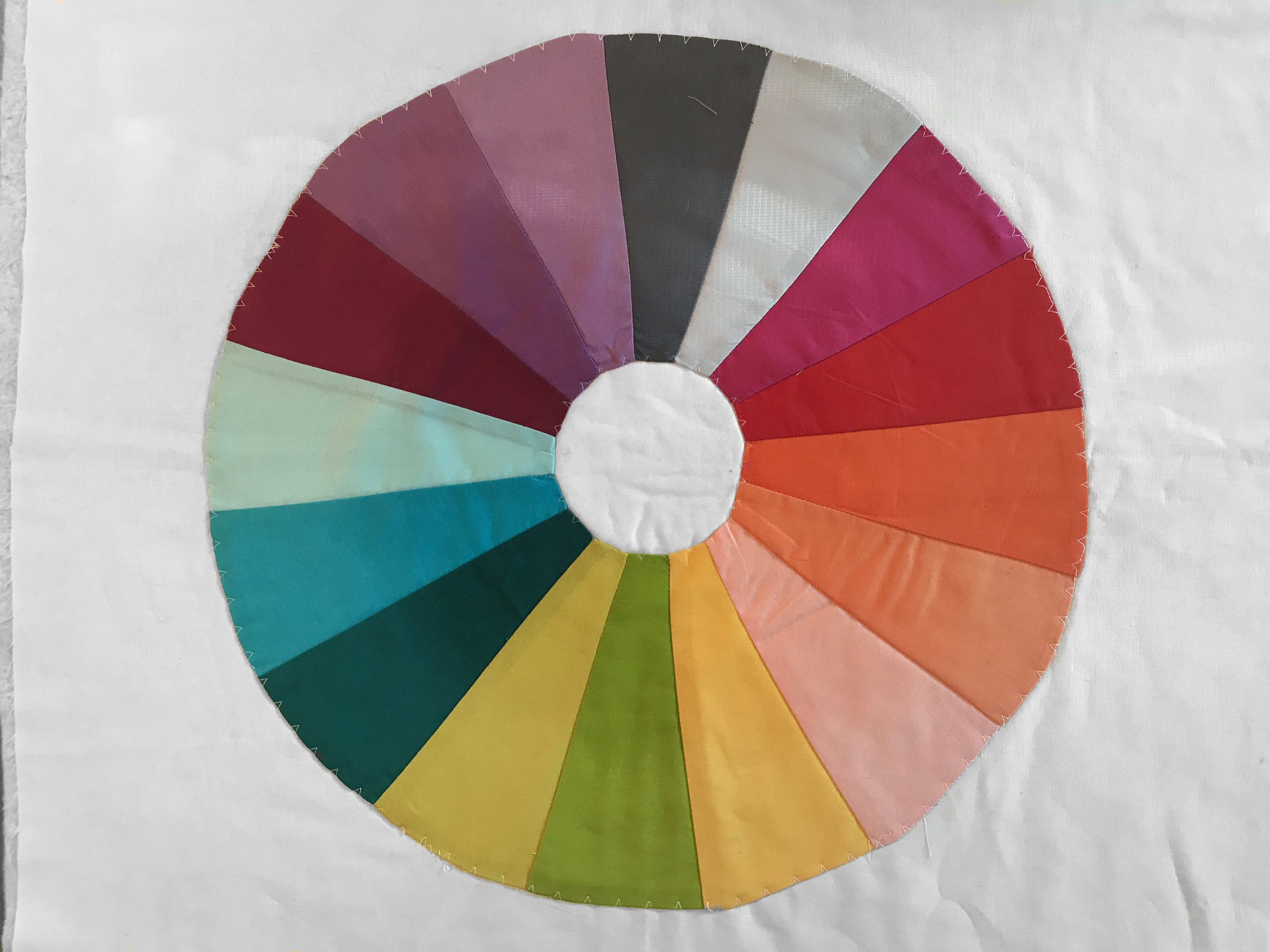 Color wheel quilt tutorial create a color wheel mini quilt with color wheel nvjuhfo Images