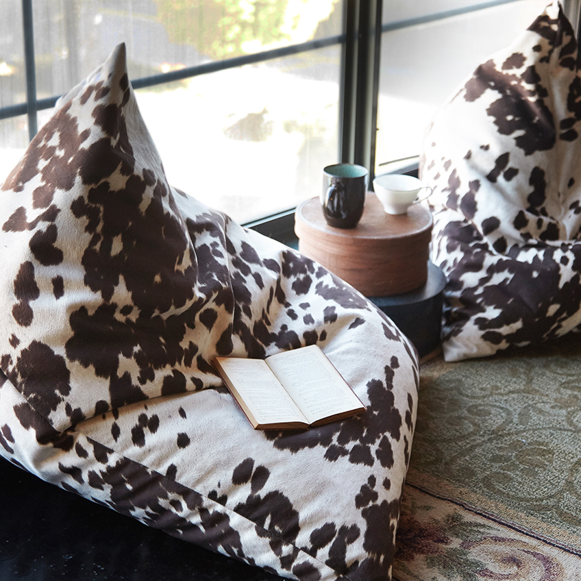 Cowhide Floor Cushion