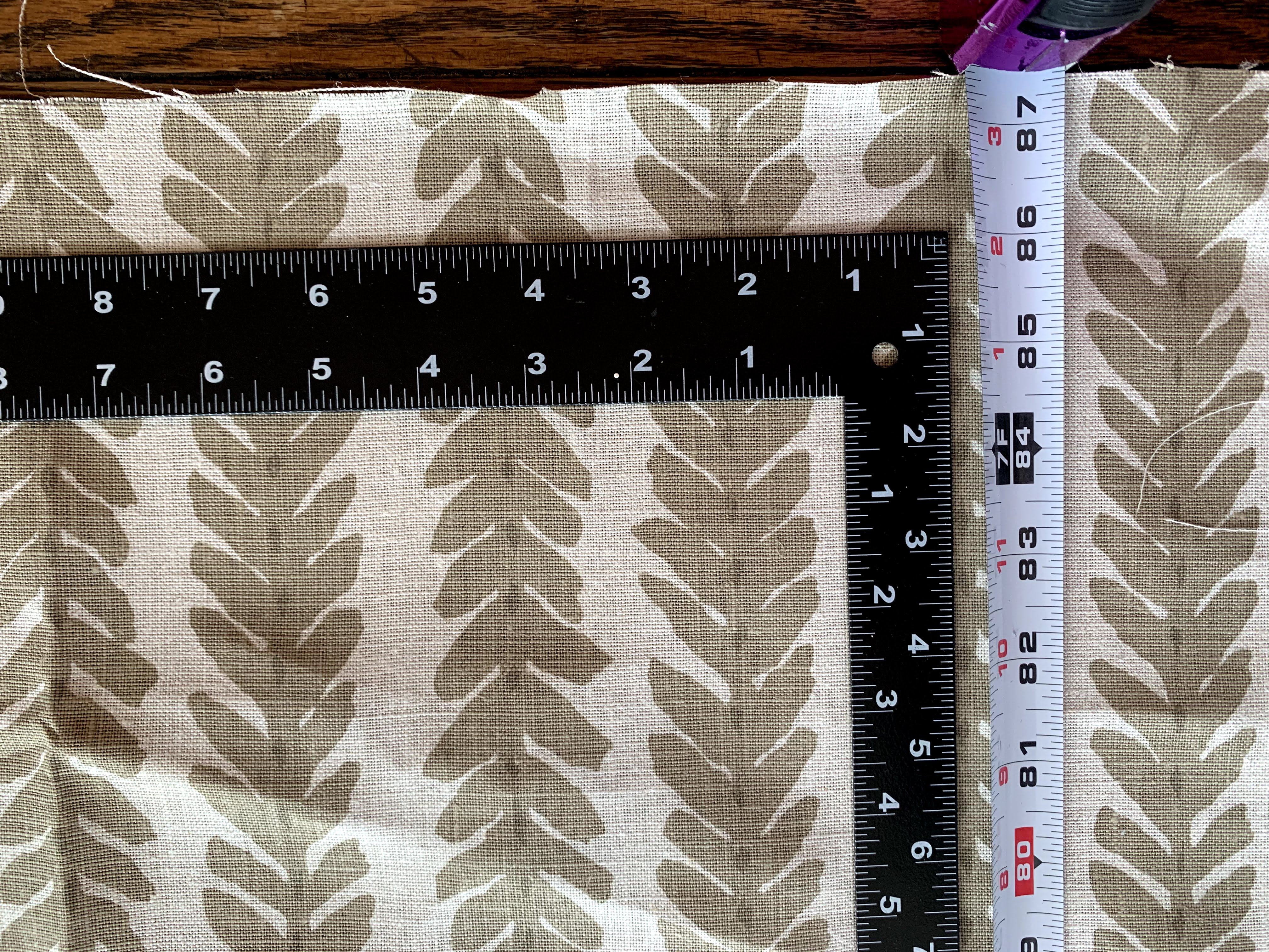 image of ruler on fabric