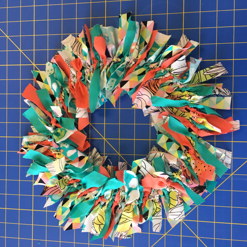 semi-finished wreath