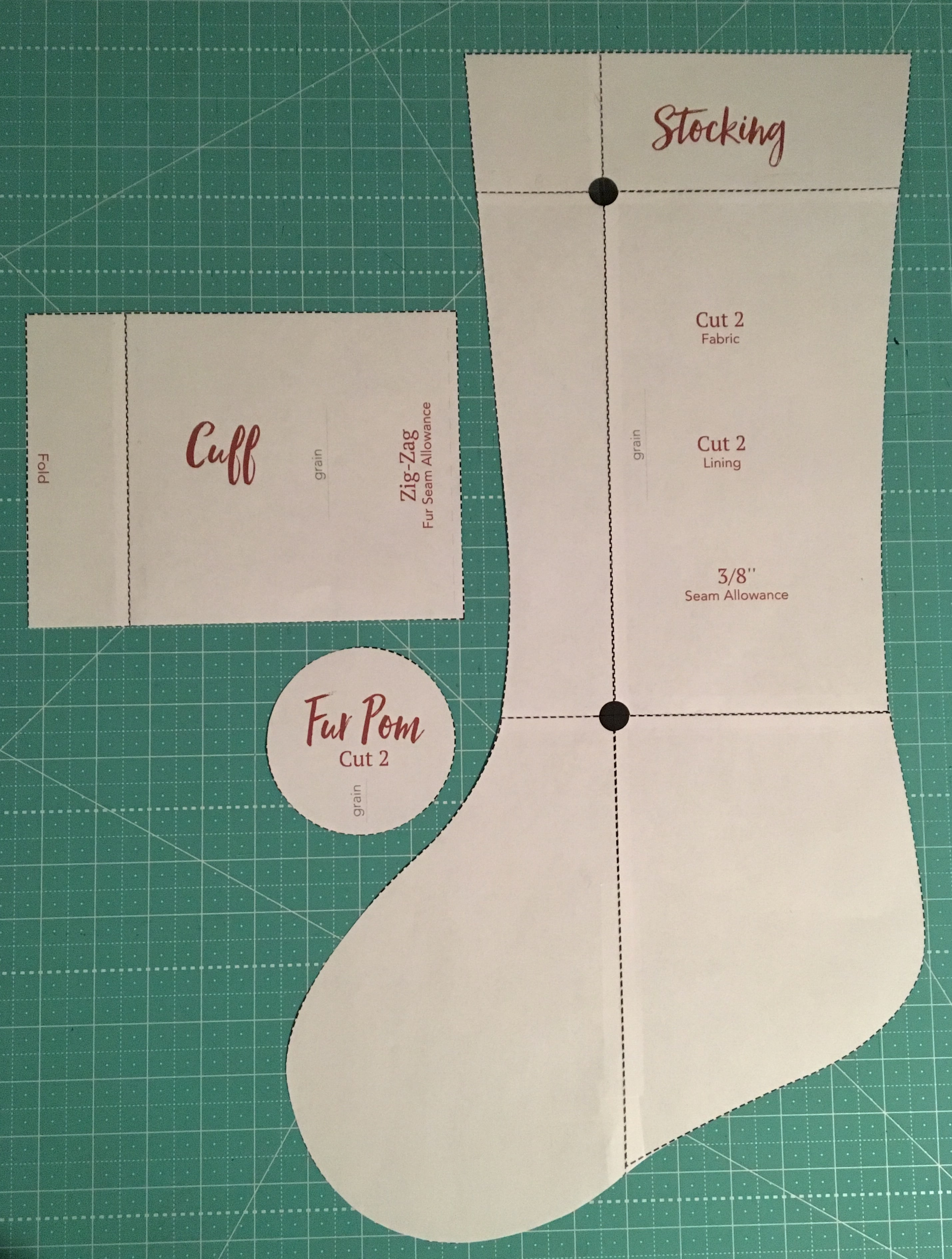 Gorgeous image for printable stocking patterns