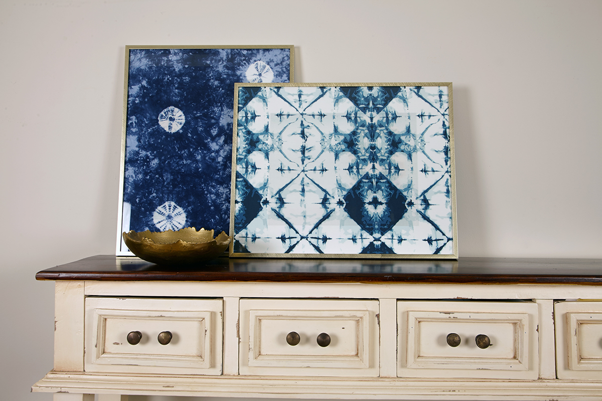 DIY Framed Shibori Fabric & Frame Worthy Prints | Looking for a ...