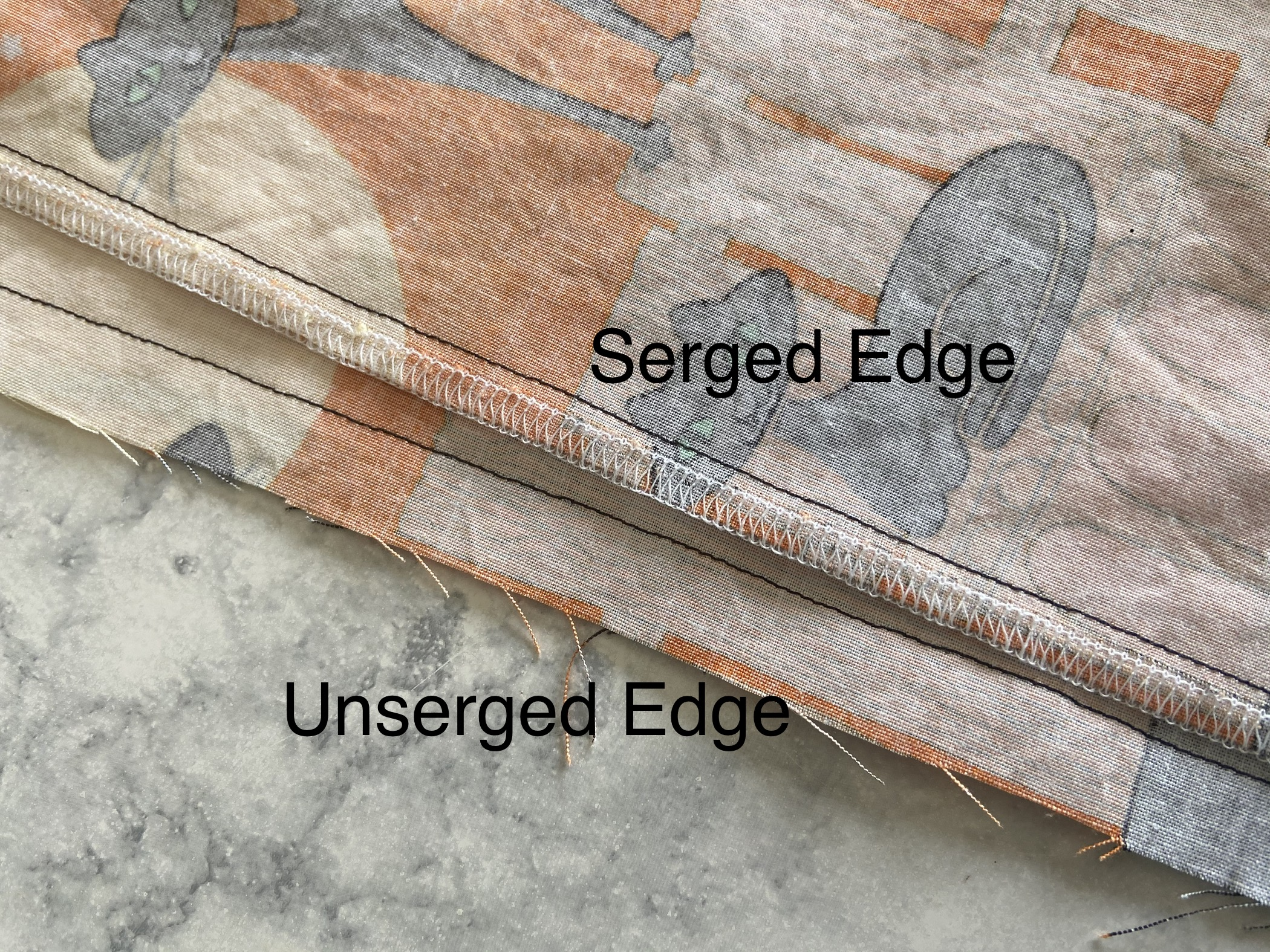 serged edges
