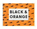 Shop Black and Orange Fabrics