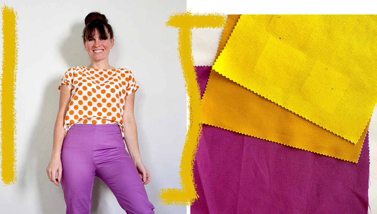 violet and yellow image