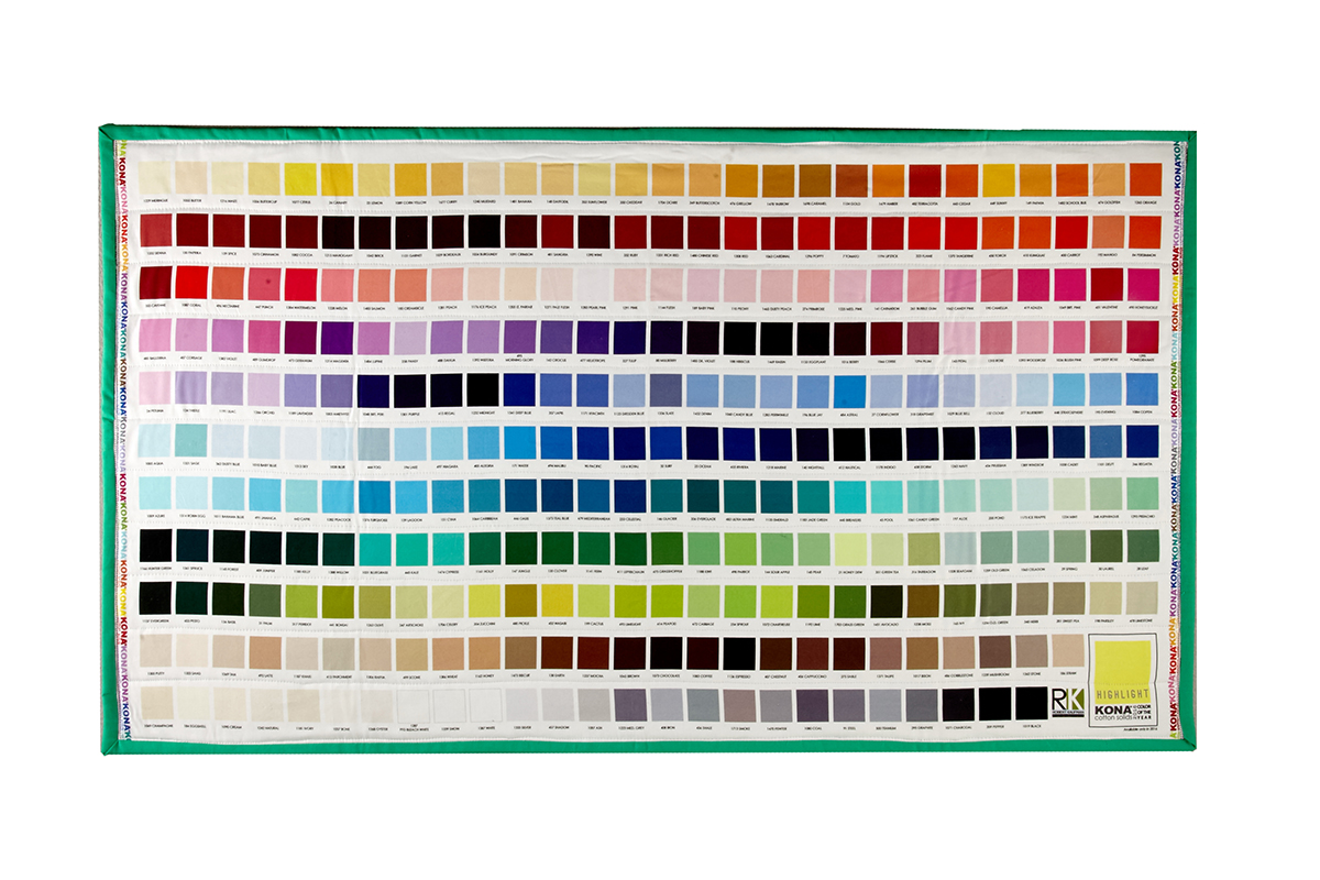 Kaufman kona digital printed color chart mini quilt learn how to completed sewing room quilt nvjuhfo Images