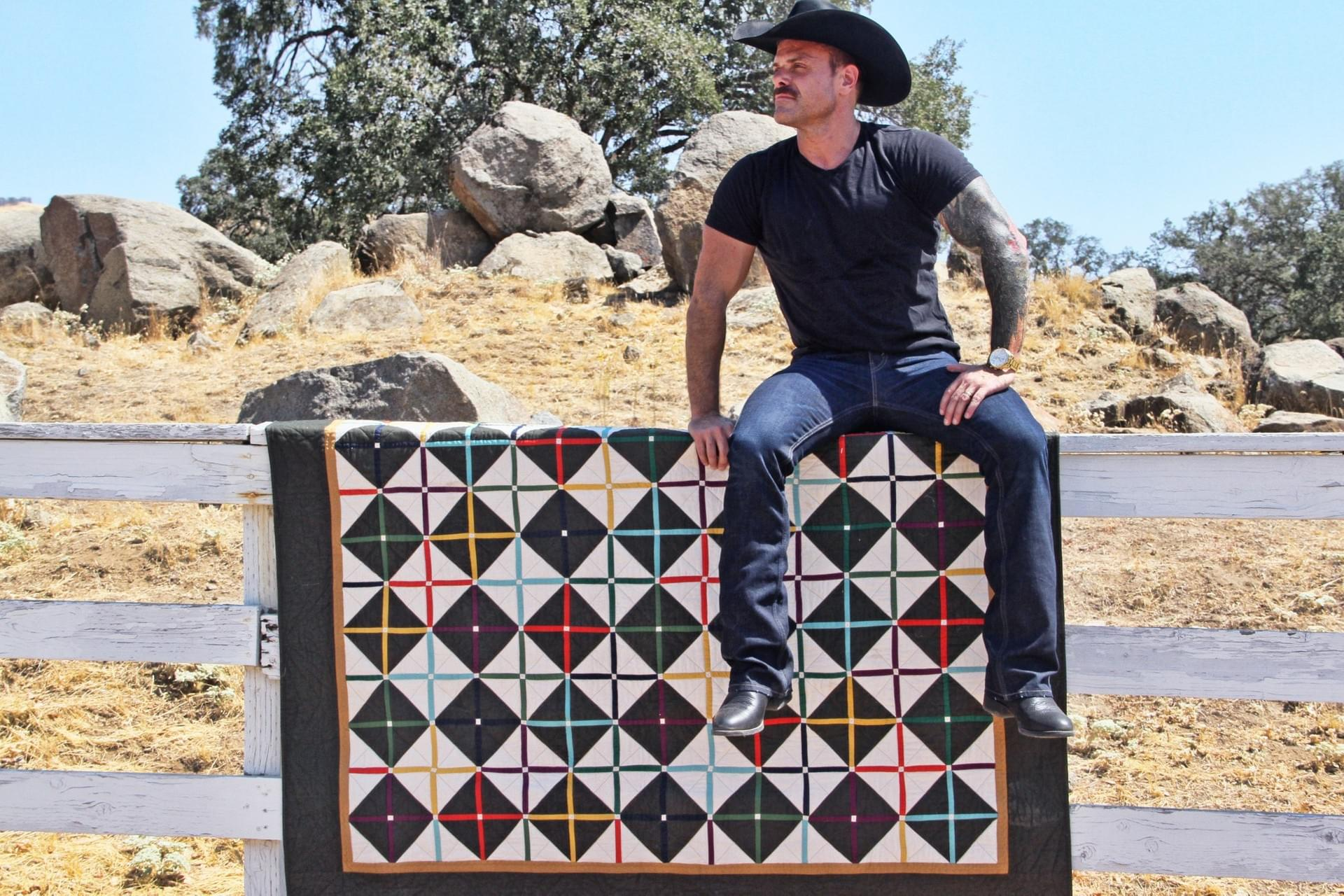image of Dale and his quilt