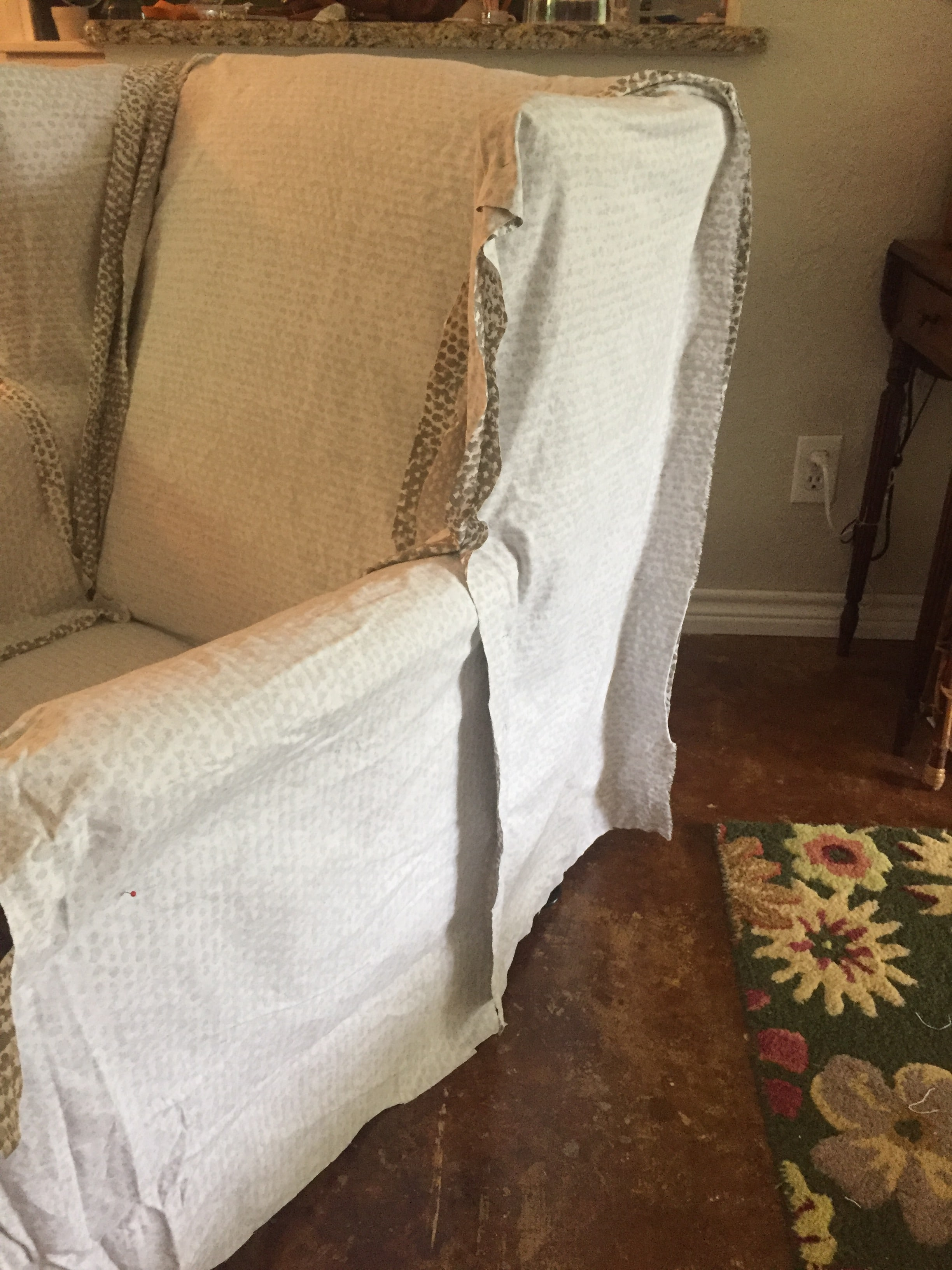Stupendous Wingback Chair Slipcover Tutorial Create Your Own Diy Pdpeps Interior Chair Design Pdpepsorg