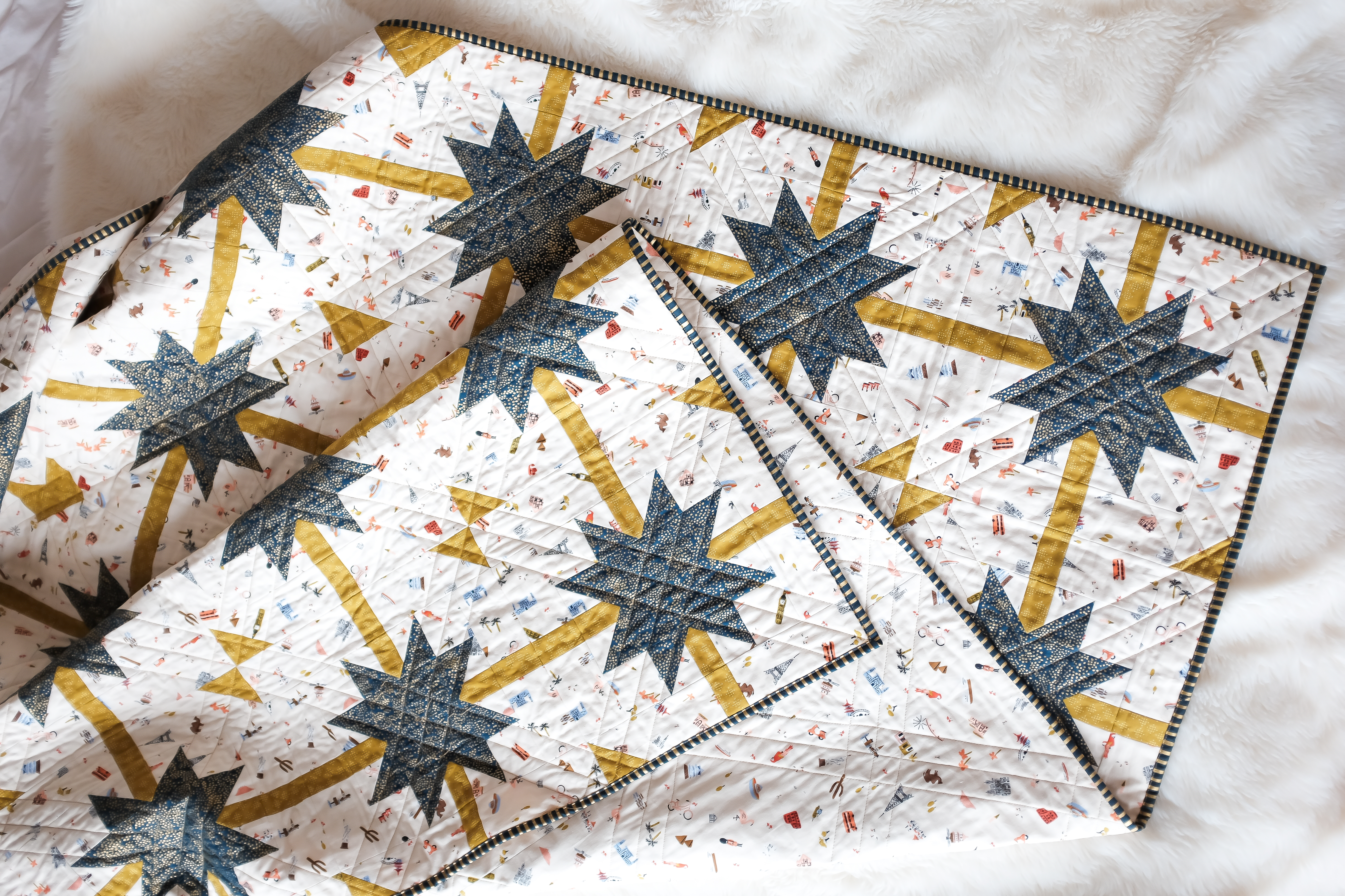 image of meteor shower quilt