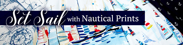 62d2d7629 Grab your sunglasses and pool bag and head to the beach with our huge  selection of nautical fabrics! Whether you re looking to make your home  into a beachy ...
