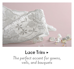 Shpo lace trim - the perfect accent for gowns, veils, and bouquets