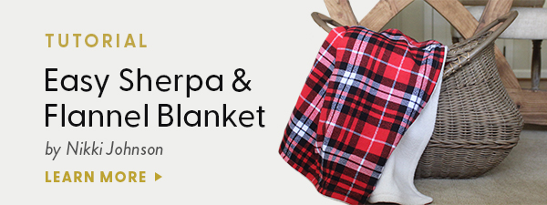 Easy Sherpa & Flannel Blanket tutorial