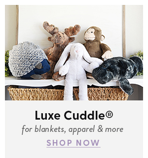 Shop Luxe Cuddle for blankets, apparel, and more