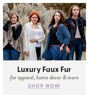 Shop Luxury Faux Fur for apparel, home decor, and more