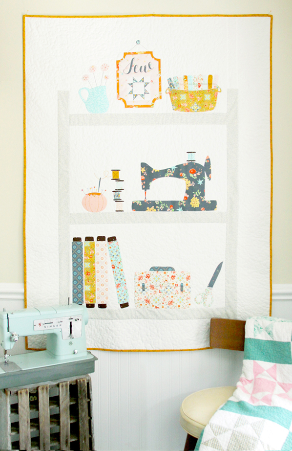 Completed Sewing Room Quilt